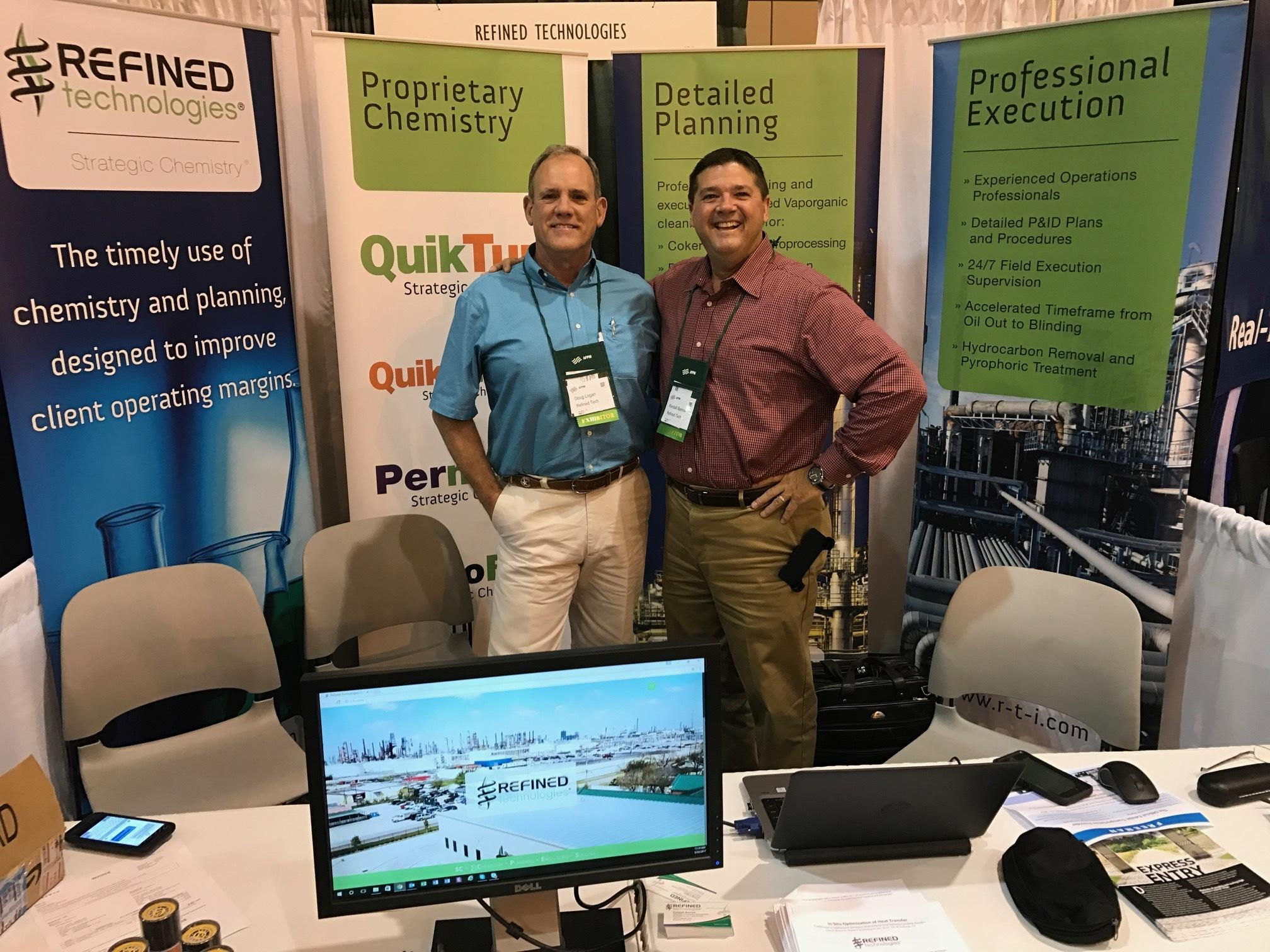 Stop by and say hello to Doug Logan and Kendall Barrow in Booth #120 at the AFPM Reliability & Maintenance Conference and Exhibition