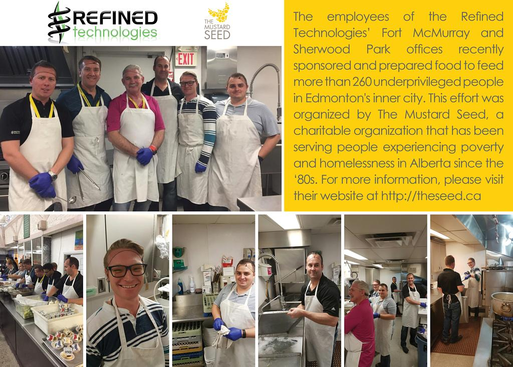 Refined Technologies' Prepared Food for Underprivileged People